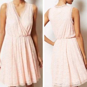Anthro E by Eloise Lace Chemise Pink Dress